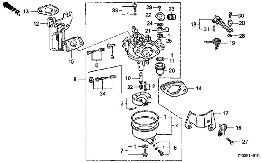honda gcv160 carb assembly